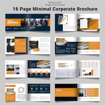 Szesnastostronicowa broszura biznesowa