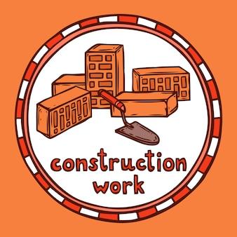 Szkic budowy budynku architekta