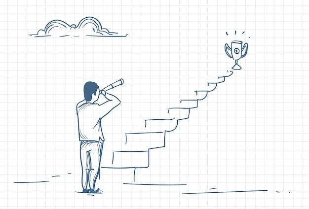 Szkic człowieka, który szuka sukcesu