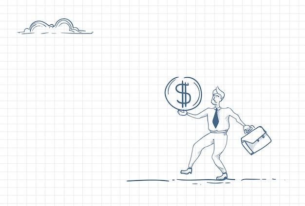 Szkic człowieka posiadającego pieniądze