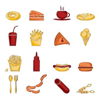 Szkic ikony fast food