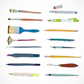 Szkic ikony narzędzi do rysowania