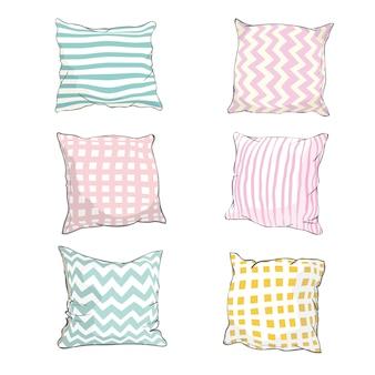 Szkic ilustracji poduszki, sztuki, poduszki na białym tle, białej poduszki, poduszki do łóżka