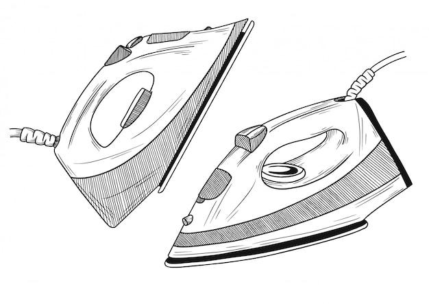 Szkic ilustracji żelaza