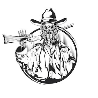Szkic kowboja robota
