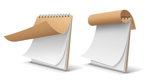 Szkic książki brązowy papier okładki, szablon