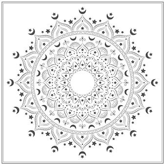 Szkic mandali do kolorowania