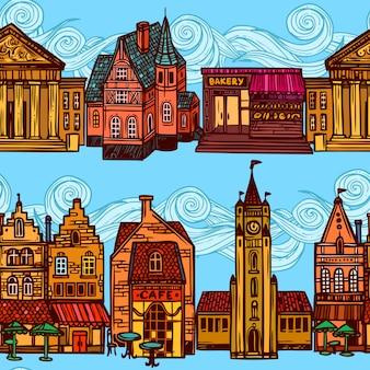 Szkic miasta wzór