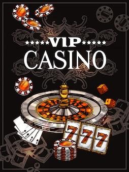 Szkic plakat kasynowy
