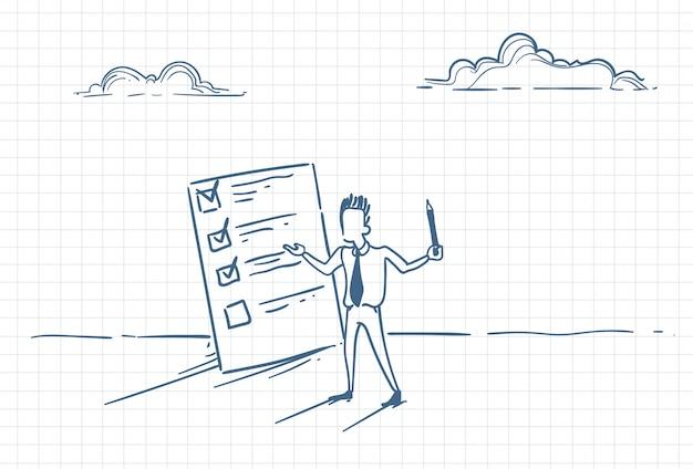 Szkic przedstawiający biznesmena