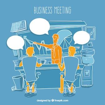 Szkic spotkanie biznesowe