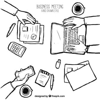 Szkic spotkaniu biznesowym