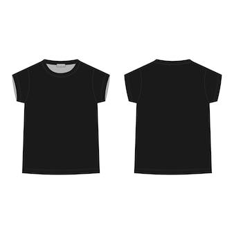 Szkic techniczny koszulka dziecięca na szarym tle. szablon projektu t-shirt dla dzieci.