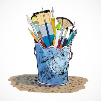 Szkic uchwytu narzędzi do rysowania