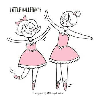 Szkice małe balerinki