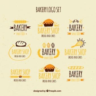 Szkice piekarnia logo zestaw