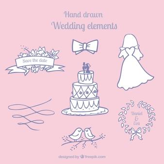 Szkice piękne obiekty weselne