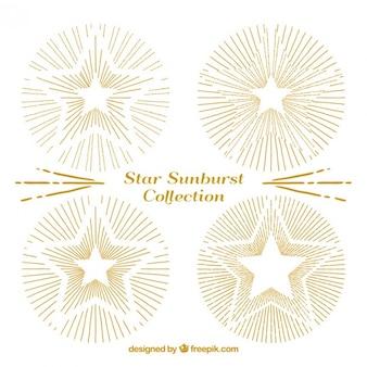 Szkice słodkie złote gwiazdy