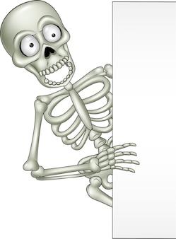 Szkielet kreskówka z pusty znak