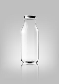 Szklana butelka na pakiet projektowy i reklamę