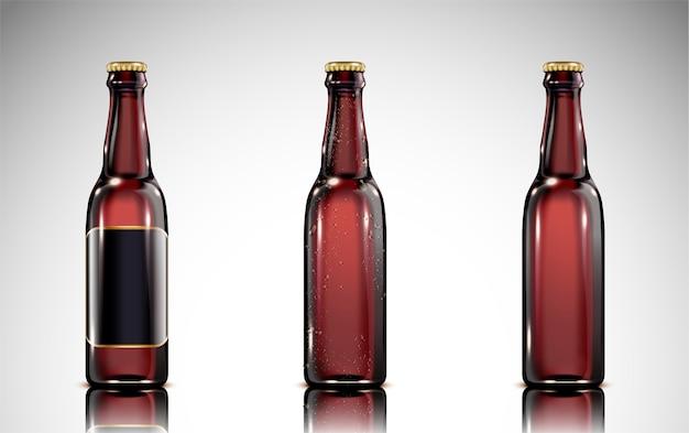 Szklana butelka piwa