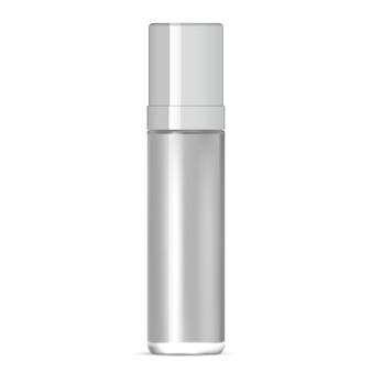 Szklana butelka. projektowanie opakowań serum. 3d makieta