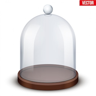 Szklana kopuła na białym tle