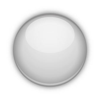 Szklana kula na białym tle