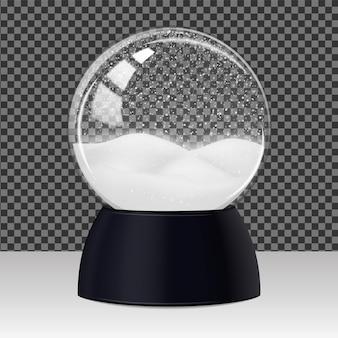 Szklana przezroczysta kula śniegu