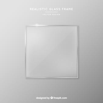 Szklana ramka w realistycznym stylu