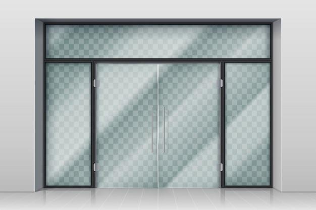 Szklane drzwi wejściowe