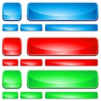 Szklane kształty, przycisk