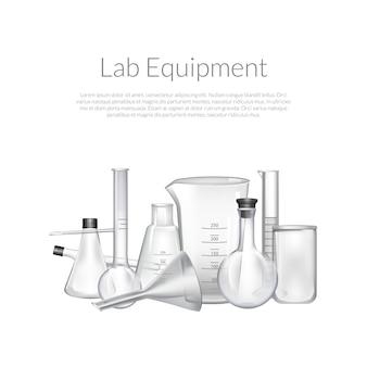 Szklane probówki do laboratorium chemicznego