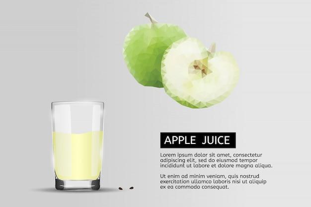 Szklanka soku jabłkowego.