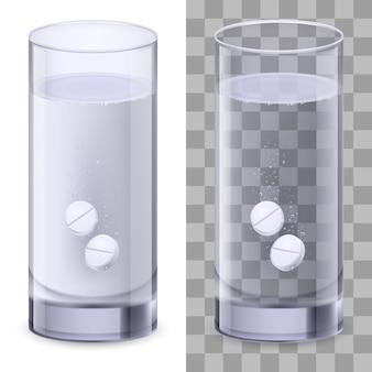 Szklanka wody i pigułki