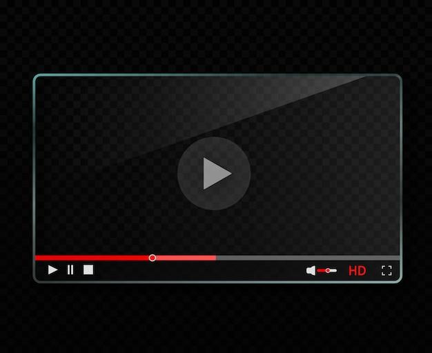 Szklany odtwarzacz wideo