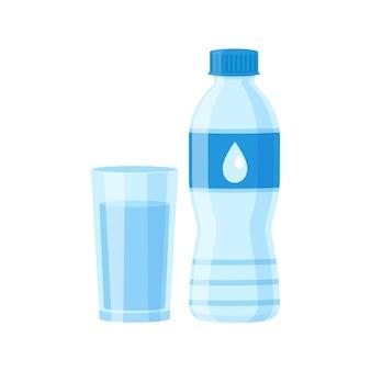 Szkło i butelka wody