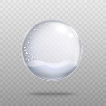 Szkło kryształowe puste świąteczne kuli śnieżnej z pamiątkami 3d realistyczne