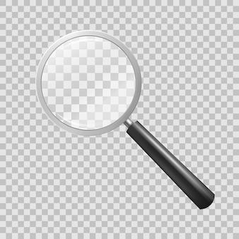Szkło powiększające na tle checkered