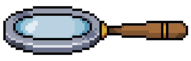 Szkło powiększające pikselowy element gry