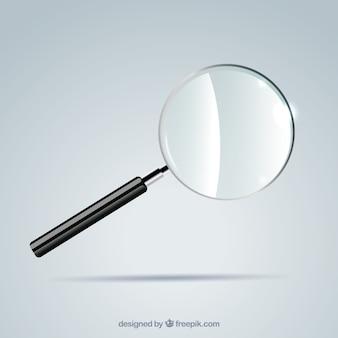 Szkło powiększające tło w realistyczny styl