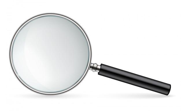 Szkło powiększające, zoom lupy, ręczna soczewka narzędziowa.