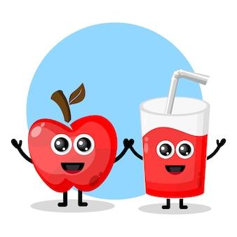Szkło sok jabłkowy słodkie logo postaci