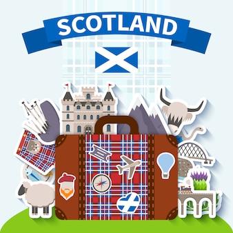 Szkocja podróży tło