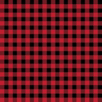 Szkocka bezszwowe tło czerwone i czarne szkockie tkaniny
