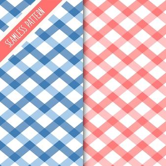 Szkocki kratę wzór w kratę. tkanina w tle retro