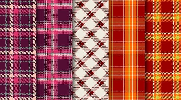 Szkocki wzór w kratę w kratę