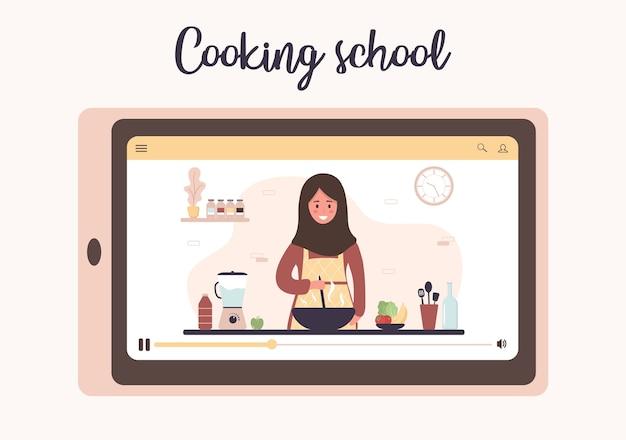 Szkoła gotowania. mistrzowska klasa kulinarna online.