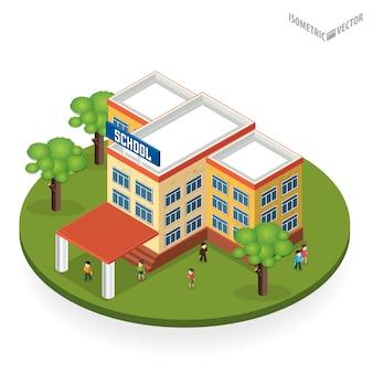Szkoła i edukacja. budynki do budowy miast.