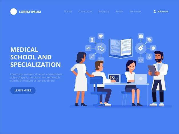 Szkoła i specjalizacja medyczna